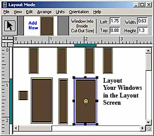 Window Designer by Evan Designs Layout Screen Capture