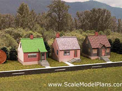 Z-scale houses
