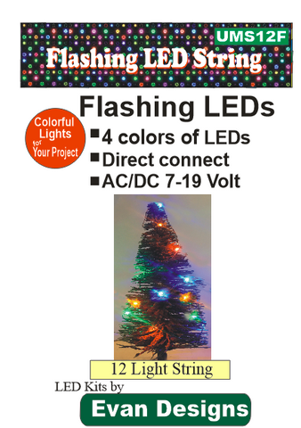 flashing colored light string