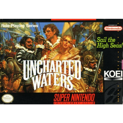 SNES - Uncharted Waters (Complete in Box)