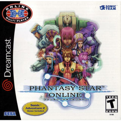 Dreamcast - Phantasy Star Online W/Sonic Adventure 2 (demo disc) - PUGCanada
