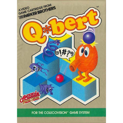 ColecoVision - Q*bert (Game, Box and Manual)