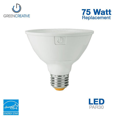 Green Creative 16129 PAR30SN E26 11W High CRI 90 120V Dimmable 2700K 15 Degree Beam