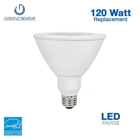 Green Creative 16161 PAR38 E26 17W High CRI 90 120-277V Non-Dimmable 3000K