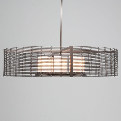 Hammerton Studio New Downtown Mesh 8 Light Drum Pendant Light