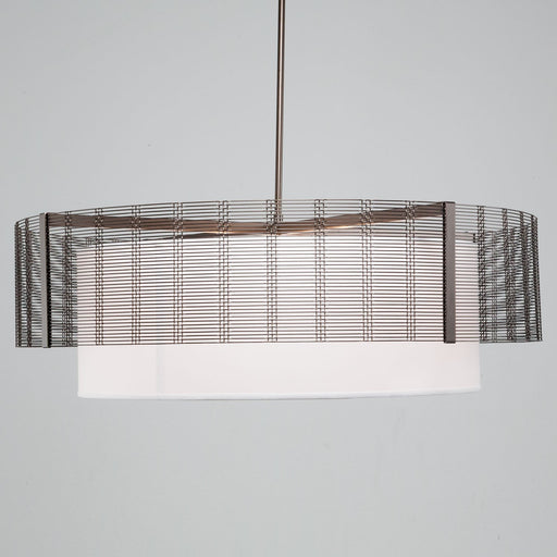 Hammerton Studio New Downtown Mesh 8 Light Drum Pendant Light With Shade