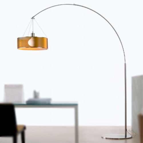 & Costa Steel Arc Floor Lamp