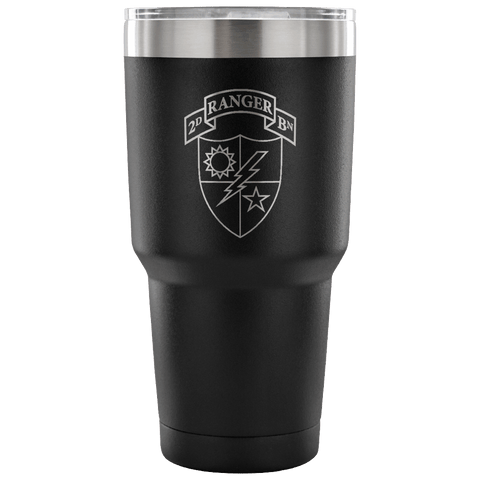 2ND RANGER BATTALION TUMBLER Tumblers 30 Ounce Vacuum Tumbler - Black Upper Tier Development