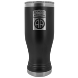 82ND AIRBORNE DIVISION 20OZ TABBED BOHO TUMBLER Tumblers Black Upper Tier Development