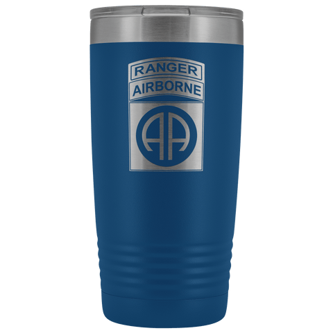 82ND AIRBORNE DIVISION 20OZ TABBED TUMBLER Tumblers Blue Upper Tier Development