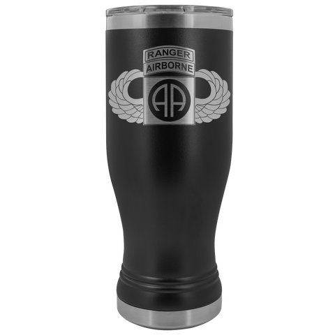 82ND AIRBORNE DIVISION 20OZ TABBED WINGED BOHO TUMBLER Tumblers Black Upper Tier Development