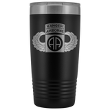 82ND AIRBORNE DIVISION 20OZ TABBED WINGED TUMBLER Tumblers Black Upper Tier Development