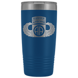 82ND AIRBORNE DIVISION 20OZ TABBED WINGED TUMBLER Tumblers Blue Upper Tier Development