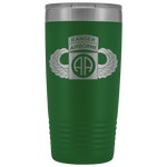 82ND AIRBORNE DIVISION 20OZ TABBED WINGED TUMBLER Tumblers Green Upper Tier Development