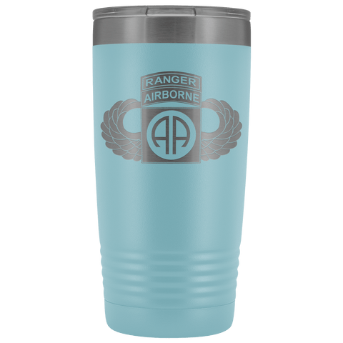 82ND AIRBORNE DIVISION 20OZ TABBED WINGED TUMBLER Tumblers Light Blue Upper Tier Development
