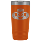 82ND AIRBORNE DIVISION 20OZ TABBED WINGED TUMBLER Tumblers Orange Upper Tier Development