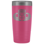 82ND AIRBORNE DIVISION 20OZ TABBED WINGED TUMBLER Tumblers Pink Upper Tier Development