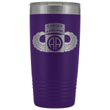 82ND AIRBORNE DIVISION 20OZ TABBED WINGED TUMBLER Tumblers Purple Upper Tier Development