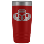 82ND AIRBORNE DIVISION 20OZ TABBED WINGED TUMBLER Tumblers Red Upper Tier Development
