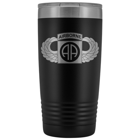 82ND AIRBORNE DIVISION 20OZ WINGED TUMBLER Tumblers Black Upper Tier Development