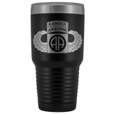 82ND AIRBORNE DIVISION 30OZ TABBED WINGED TUMBLER Tumblers Black Upper Tier Development