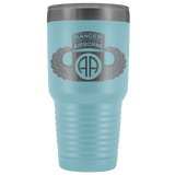 82ND AIRBORNE DIVISION 30OZ TABBED WINGED TUMBLER Tumblers Light Blue Upper Tier Development