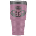 82ND AIRBORNE DIVISION 30OZ TABBED WINGED TUMBLER Tumblers Light Purple Upper Tier Development