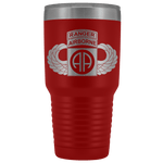 82ND AIRBORNE DIVISION 30OZ TABBED WINGED TUMBLER Tumblers Red Upper Tier Development