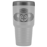 82ND AIRBORNE DIVISION 30OZ TABBED WINGED TUMBLER Tumblers White Upper Tier Development