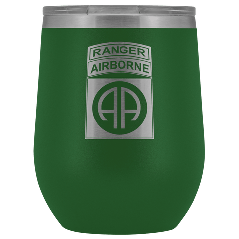 82ND AIRBORNE DIVISION TABBED WINE TUMBLER Wine Tumbler Green Upper Tier Development