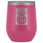 82ND AIRBORNE DIVISION TABBED WINE TUMBLER Wine Tumbler Pink Upper Tier Development
