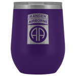 82ND AIRBORNE DIVISION TABBED WINE TUMBLER Wine Tumbler Purple Upper Tier Development