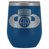 82ND AIRBORNE DIVISION TABBED WINGED WINE TUMBLER Wine Tumbler Blue Upper Tier Development