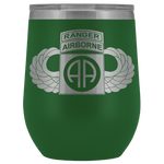 82ND AIRBORNE DIVISION TABBED WINGED WINE TUMBLER Wine Tumbler Green Upper Tier Development