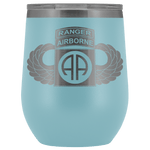 82ND AIRBORNE DIVISION TABBED WINGED WINE TUMBLER Wine Tumbler Light Blue Upper Tier Development