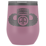 82ND AIRBORNE DIVISION TABBED WINGED WINE TUMBLER Wine Tumbler Light Purple Upper Tier Development
