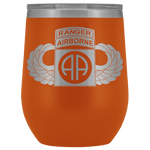 82ND AIRBORNE DIVISION TABBED WINGED WINE TUMBLER Wine Tumbler Orange Upper Tier Development