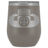 82ND AIRBORNE DIVISION TABBED WINGED WINE TUMBLER Wine Tumbler Pewter Upper Tier Development