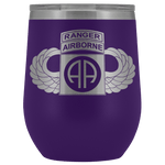 82ND AIRBORNE DIVISION TABBED WINGED WINE TUMBLER Wine Tumbler Purple Upper Tier Development