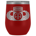 82ND AIRBORNE DIVISION TABBED WINGED WINE TUMBLER Wine Tumbler Red Upper Tier Development