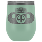 82ND AIRBORNE DIVISION TABBED WINGED WINE TUMBLER Wine Tumbler Teal Upper Tier Development