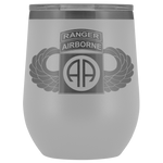 82ND AIRBORNE DIVISION TABBED WINGED WINE TUMBLER Wine Tumbler White Upper Tier Development