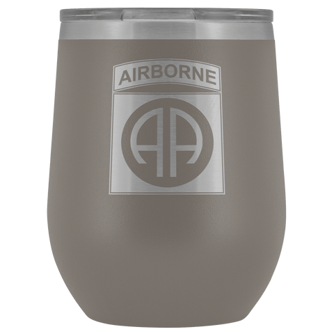 82ND AIRBORNE DIVISION WINE TUMBLER Wine Tumbler Pewter Upper Tier Development