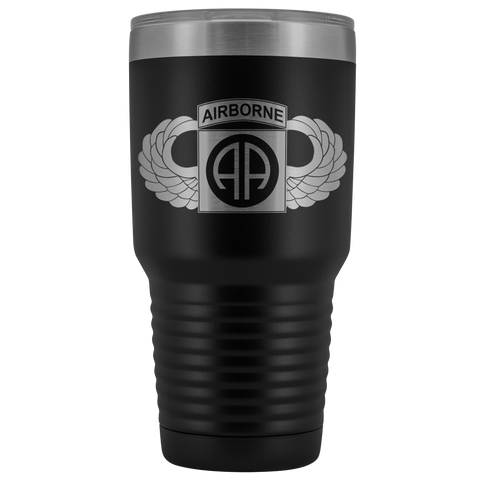 82ND AIRBORNE DIVISION WINGED 30OZ TUMBLER Tumblers Black Upper Tier Development