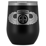 82ND AIRBORNE DIVISION WINGED WINE TUMBLER Wine Tumbler Black Upper Tier Development