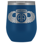 82ND AIRBORNE DIVISION WINGED WINE TUMBLER Wine Tumbler Blue Upper Tier Development