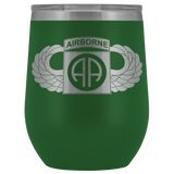 82ND AIRBORNE DIVISION WINGED WINE TUMBLER Wine Tumbler Green Upper Tier Development