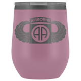82ND AIRBORNE DIVISION WINGED WINE TUMBLER Wine Tumbler Light Purple Upper Tier Development