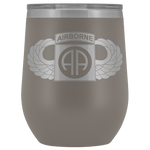 82ND AIRBORNE DIVISION WINGED WINE TUMBLER Wine Tumbler Pewter Upper Tier Development