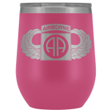 82ND AIRBORNE DIVISION WINGED WINE TUMBLER Wine Tumbler Pink Upper Tier Development